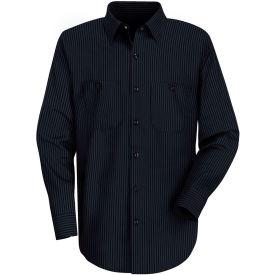 Red Kap® Men's Durastripe Work Shirt Navy/Light Blue Twin Stripe Long-L SP14-SP14NLLNL