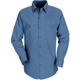 Red Kap® Men's Industrial Work Shirt Long Sleeve Postman Blue Extra Long-XL SP14