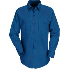 Red Kap® Men's Industrial Work Shirt Long Sleeve Royal Blue Regular-3XL SP14