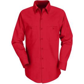 Red Kap® Men's Industrial Work Shirt Long Sleeve Red Regular-3XL SP14