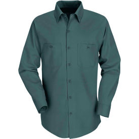 Red Kap® Men's Industrial Work Shirt Long Sleeve Spruce Green Long-XL SP14