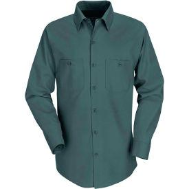Red Kap® Men's Industrial Work Shirt Long Sleeve Spruce Green Regular-XL SP14
