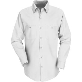 Red Kap® Men's Industrial Work Shirt Long Sleeve White Regular-M SP14
