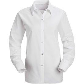 Red Kap® Men's Specialized Pocketless Polyester Work Shirt Long Sleeve White Regular-3XL SP15