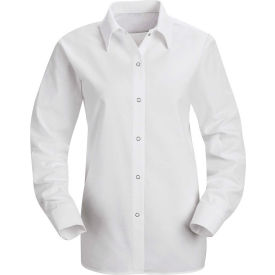 Red Kap® Men's Specialized Pocketless Polyester Work Shirt Long Sleeve White Regular-XL SP15
