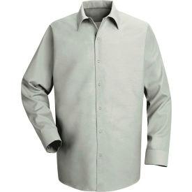 Red Kap® Men's Specialized Pocketless Polyester Work Shirt Long Sleeve Light Gray Reg-XL SP16
