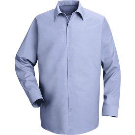 Red Kap® Men's Specialized Pocketless Polyester Work Shirt Long Sleeve Light Blue Reg-2XL SP16
