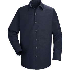 Red Kap® Men's Specialized Pocketless Polyester Work Shirt Long Sleeve Navy Regular-3XL SP16
