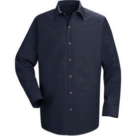 Red Kap® Men's Specialized Pocketless Polyester Work Shirt Long Sleeve Navy Regular-XL SP16