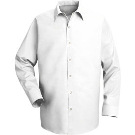 Red Kap® Men's Specialized Pocketless Polyester Work Shirt Long Sleeve White Regular-S SP16