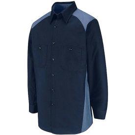 Red Kap® Men's Motorsports Shirt Long Sleeve Regular-L Navy/Postman Blue SP18