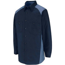 Red Kap® Men's Motorsports Shirt Long Sleeve Regular-2XL Navy/Postman Blue SP18