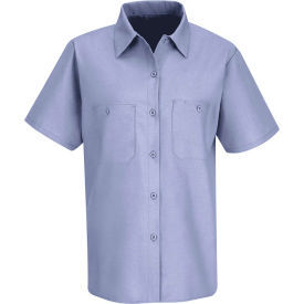 Red Kap® Men's Industrial Work Shirt Short Sleeve Light Blue S SP23