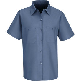 Red Kap® Women's Industrial Work Shirt Short Sleeve Petrol Blue L SP23