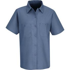 Red Kap® Men's Industrial Work Shirt Short Sleeve Petrol Blue XL SP23