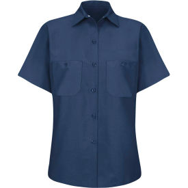 Red Kap® Women's Industrial Work Shirt Short Sleeve Navy 4XL SP23