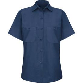 Red Kap® Women's Industrial Work Shirt Short Sleeve Navy 2XL SP23