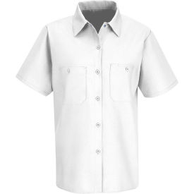 Red Kap® Men's Industrial Work Shirt Short Sleeve White L SP23