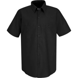 Red Kap® Men's Industrial Work Shirt Short Sleeve Black 2XL SP24