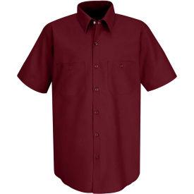Red Kap® Men's Industrial Work Shirt Short Sleeve Burgundy 3XL SP24