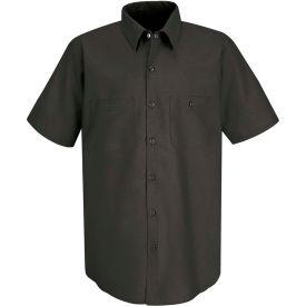 Red Kap® Men's Industrial Work Shirt Short Sleeve Charcoal 3XL SP24