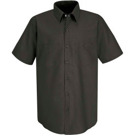 Red Kap® Men's Industrial Work Shirt Short Sleeve Charcoal Long-3XL SP24