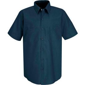 Red Kap® Men's Industrial Work Shirt Short Sleeve Dark Blue L SP24