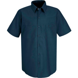 Red Kap® Men's Industrial Work Shirt Short Sleeve Dark Blue XL SP24