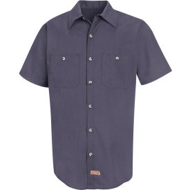 Red Kap® Men's Geometric Micro-Check Work Shirt Blue/Charcoal Microcheck 2XL SP24