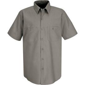 Red Kap® Men's Industrial Work Shirt Short Sleeve Gray Long-3XL SP24