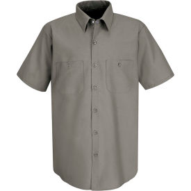 Red Kap® Men's Industrial Work Shirt Short Sleeve Gray Long-L SP24