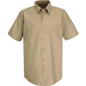 Red Kap® Men's Industrial Work Shirt Short Sleeve Khaki 4XL SP24
