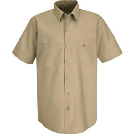 Red Kap® Men's Industrial Work Shirt Short Sleeve Khaki S SP24