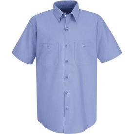 Red Kap® Men's Industrial Work Shirt Short Sleeve Light Blue Long-3XL SP24