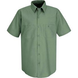 Red Kap® Men's Industrial Work Shirt Short Sleeve Light Green Long-3XL SP24