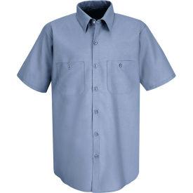 Red Kap® Men's Industrial Work Shirt Short Sleeve Petrol Blue Long-4XL SP24