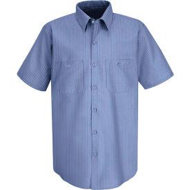 Red Kap® Men's Durastripe Work Shirt Medium Blue/Light Blue Twin Stripe 3XL SP24-SP24MLSS3XL