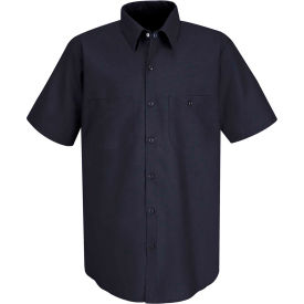 Red Kap® Men's Industrial Work Shirt Short Sleeve Navy Long-5XL SP24