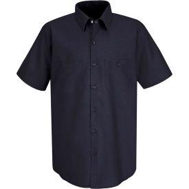 Red Kap® Men's Industrial Work Shirt Short Sleeve Navy Long-L SP24