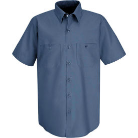 Red Kap® Men's Industrial Work Shirt Short Sleeve Postman Blue L SP24
