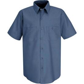 Red Kap® Men's Industrial Work Shirt Short Sleeve Postman Blue M SP24