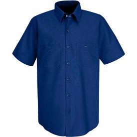 Red Kap® Men's Industrial Work Shirt Short Sleeve Royal Blue L SP24