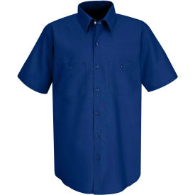 Red Kap® Men's Industrial Work Shirt Short Sleeve Royal Blue M SP24