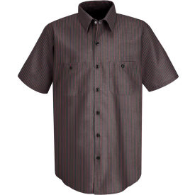 Red Kap® Men's Durastripe Work Shirt Charcoal/Red Twin Stripe L SP24-SP24RCSSL