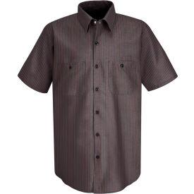 Red Kap® Men's Durastripe Work Shirt Charcoal/Red Twin Stripe S SP24-SP24RCSSS