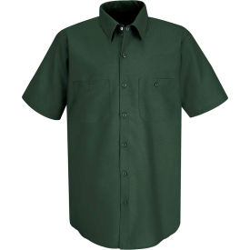 Red Kap® Men's Industrial Work Shirt Short Sleeve Spruce Green Long-3XL SP24