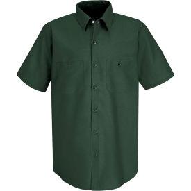 Red Kap® Men's Industrial Work Shirt Short Sleeve Spruce Green Long-2XL SP24
