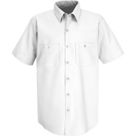 Red Kap® Men's Industrial Work Shirt Short Sleeve White Long-M SP24