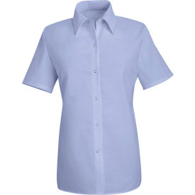 Red Kap® Men's Specialized Pocketless Polyester Work Shirt Short Sleeve Light Blue 3XL SP25