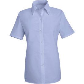 Red Kap® Men's Specialized Pocketless Polyester Work Shirt Short Sleeve Light Blue XL SP25